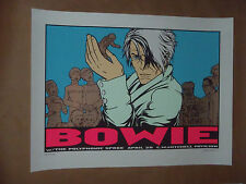 David Bowie Jermaine Rogers concert poster print signed numbered Woodlands 2004