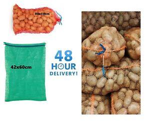 NET SACKS VEGETABLES MESH BAGS LOGS KINDLING WOOD ONIONS POTATO RASCHEL 15-30kg