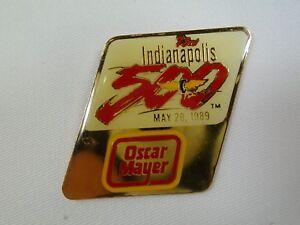 1989 Indianapolis 500 Oscar Mayer Sponsors Collector Hat Lapel Pin IndyCar