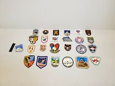 Lot of 25 Vintage Embroidered Patches Ski Souvenir Snowboarding Resorts EU USA