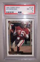 1992 Topps Football Gold #719 JOE MONTANA PSA 8 NM-MT San Francisco 49ers HOF