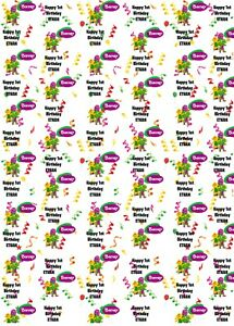 Personalised Barney Birthday Wrapping Paper
