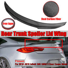 For 17-19 Infiniti Q60 Q60S Coupe HighKick PSM Style Carbon Fiber Trunk Spoiler