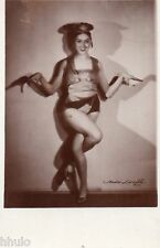 BE058 Carte Photo vintage card RPPC Femme sexy Music-Hall pin-up costume