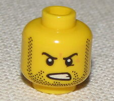 LEGO NEW MALE MINIFIGURE HEAD DUAL SIDED WITH MASK AND ANGRY FACE