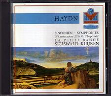 Haydn symphony 26 52 53 sigiswald Kuijken CD symphonies Lamentatione l 'impériales