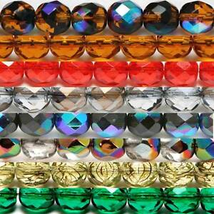 Glasperlen Facettiert Carolina Texas Rig alle Grössen viele Farben 10 Stück
