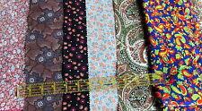 Vintage doll clothes fabric scrap bundle lot remnants 60s 70s floral calico 8 oz
