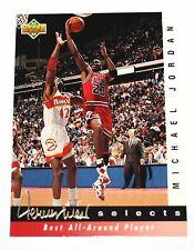 Michael Jordan 92-93 Upper Deck Retro Jerry West Best All Round Player Card