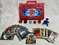 Bakugan Battle Brawlers Lot 6 Figures 18 Cards red carrying case