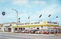 CA Santa Ana JIM SLEMONS IMPORTS DKW MERCEDES BENZ Auto Dealership postcard a72