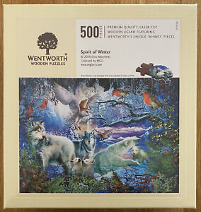 """*New* WENTWORTH """"Spirit of Winter"""" 500 piece Wooden Jigsaw Puzzle (Whimsy)"""