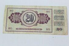 More details for banknote - narodna banka jugoslavvije - 20 dinara - za3986376 - 1981 - ehb