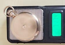 Gold Runs 72 grams No Crystal #91-10 Antique 12S Elgin Pocket Watch 14K Solid