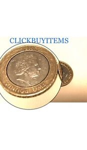 ULTRA RARE TWO POUND COIN BIG MINT ERROR  2015 Technology Head On Reverse Side