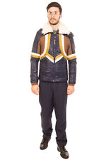Rrp €395 Just Cavalli Jacket Size 48 / S Padded Lamb Fur Collar Insert Knitted