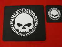 1 Personalised Neoprene Place mat and Coaster Harley Davidson Your Design
