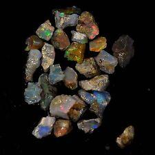 36.27 Cts Bulk price Natural Ethiopian Opal Facet Rough lots Specimen 20 piece.