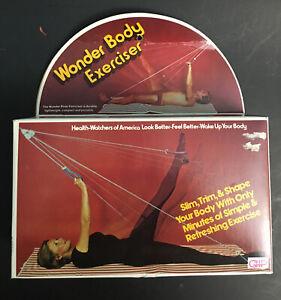 Vintage Wonder Body Exerciser Trimmer Shaper Door Knob Pulley Ropes