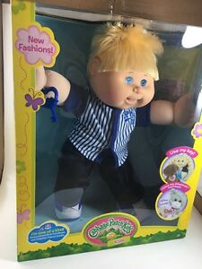 "Cabbage Patch Kids 14"" Boy Doll w/adoptimals Key Caucasian Blonde hair Blue Eyes"