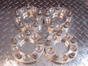 "5x5 to 5x5 / 5x127 US Wheel Adapters 1"" Thick 12x1.5 Studs 78.1 Bore x 4 Spacers"