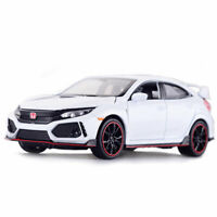 Honda Civic Type R 1:32 Scale Model Car Metal Diecast Toy Kids Collection White