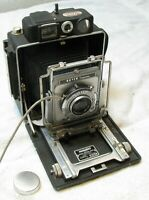 Busch Pressman Model D 4X5 Camera Large Format Kodak Ektar 127mm Lens LOT EXTRAS