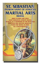 St. Sebastian Martial Arts Medal with Chain and a FREE St. Sebastian Prayer Card
