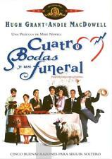CUATRO BODAS Y UN FUNERAL. dvd.