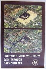 1940's WWII Military Poster: Camouflage Blinds the Enemy, Uncovered Spoil...
