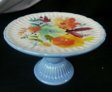 Pioneer Woman WILLOW Mini Cake Plate Stand Cupcake NEW Blue