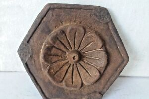 Old Antique India Jaisalmer Stone Hand Carved Chapati Cookies Rolling Board