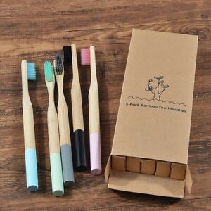 5 Pcs Bamboo Soft Bristles Eco Friendly Cepillo Dientes Oral Care Toothbrush