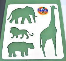 Coca-Cola Fanta Matrice pour éLéphant Lion Girafe Ours - Pochoir