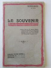 FETE DU SOUVENIR FRANCAIS Causerie / Conférence de Maurice Mignon en 1915