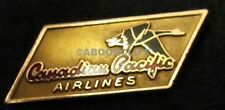 CANADIAN PACIFIC AIRLINES 1950-57 BIRK's 10k GOLD GOOSE SERVICE Lapel Pin