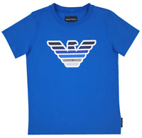 NEW Emporio Armani Junior RRP£120 Designer Kids Boys Top Tshirt AGE 8 YEARS A815