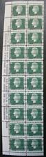 Canada #402xx, MNH OG Pre-Cancel Warning Strip Of 20, Left Side, Cameo Series