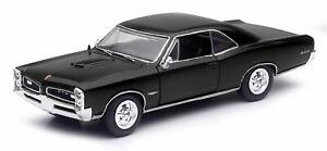 1966 Pontiac GTO schwarz, NewRay Muscle Car Collection, Auto Modell 1:25