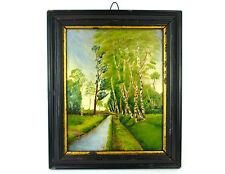 Tableau tableau dans le cadre Peinture à l'huile Paysage Signé 1925 B-598