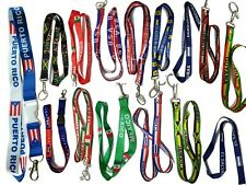 Flag Lanyard Key chain Ring Neck strap ID Holder Country Badge Necklace keychain