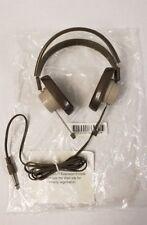 Vintage Telex Headphones 610 Monitors Brown 1/4 in. Plug Retro Audio 6.3mm - NEW