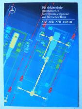 Prospekt Mercedes - ABS ASD ASR 4MATIC, 6.1987, 10 Seiten