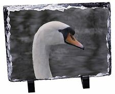 Face of a Swan Photo Slate Christmas Gift Ornament, AB-S4SL