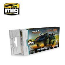 Ammo by MiG Acrylics Set 6 jars 17mL Sci-Fi Ground Vehicles Colors - Amig7155