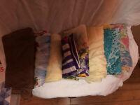 Vintage Lot of 8 Assorted Scarves Scarf Hair Wrap(silk,nylon etc) Various Sizes