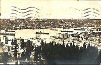 Constantinople ships boats RPPC postcard antique corne d'er