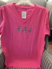 "NWT! PRODUCE 100% COTTON ""ADIRONDACK CHAIRS"" CLASSIC FIT TEE ON TEA ROSE (XS /S)"