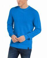DKNY Mens Sweater Princess Blue Size Medium M Crewneck Rib Trim Pullover $79 212