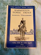 More details for the british horse society badminton horse trials programme - april 1962